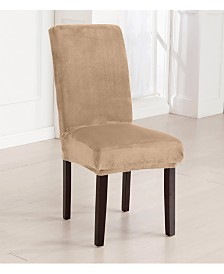 2-Pack Velvet Plush Solid Dining Room Chair Cover