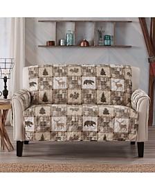 Sofa Saver Lodge Printed Reversible Loveseat Furniture Protector