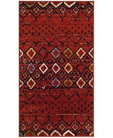 Amsterdam Terracotta and Multi 3' x 5' Area Rug