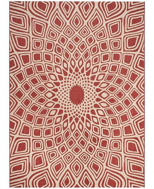 Safavieh Courtyard Red and Beige 9' x 12' Sisal Weave Area Rug