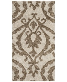"Safavieh Shag Cream and Beige 2'3"" x 4' Area Rug"