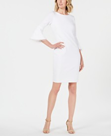 9591a8f4a3d Calvin Klein Petite Bell-Sleeve Sheath Dress   Reviews - Dresses ...