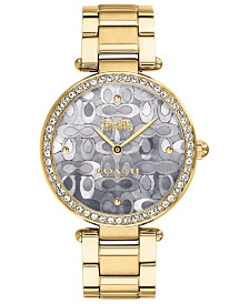 COACH Women's Park Gold-Tone Bracelet Watch 34mm