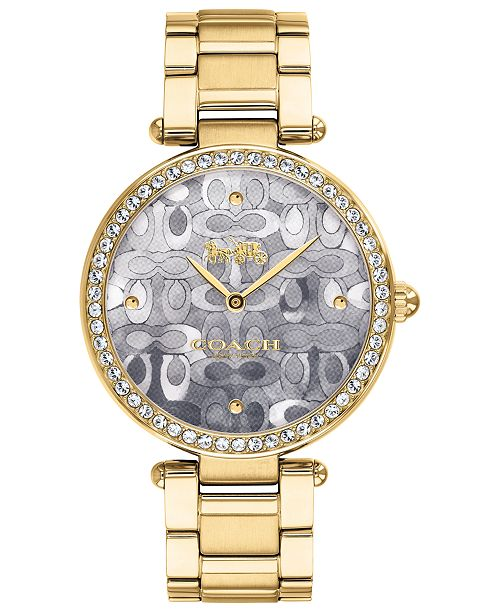 COACH Women's Park Gold-Tone Bracelet Watch 34mm