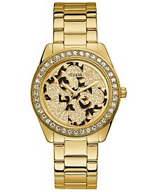 GUESS Women's G Twist Gold-Tone Stainless Steel Bracelet Watch 40mm