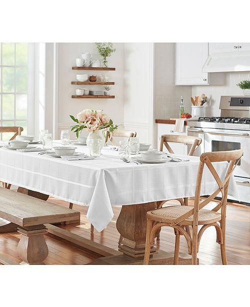 Elrene Elegance Plaid 60 X 84 Oval Tablecloth Reviews Table