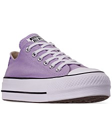 3bb704586e9 Converse Women s Chuck Taylor All Star Lift Low Top Casual Sneakers from  Finish Line