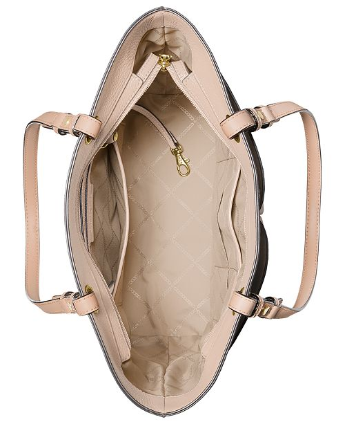 9b867b11ceae Michael Kors Bedford Pebble Leather Pocket Tote & Reviews - Handbags ...