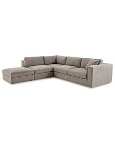 Dulovo 4-Pc. Fabric Sectional Sofa, Created for Macy's