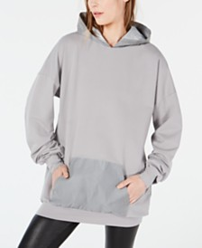 Waisted Reflective-Pocket Hoodie