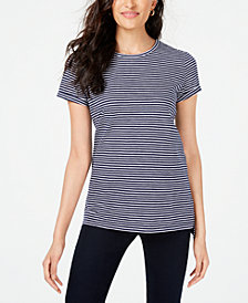 Maison Jules Striped Crew-Neck T-Shirt, Created for Macy's