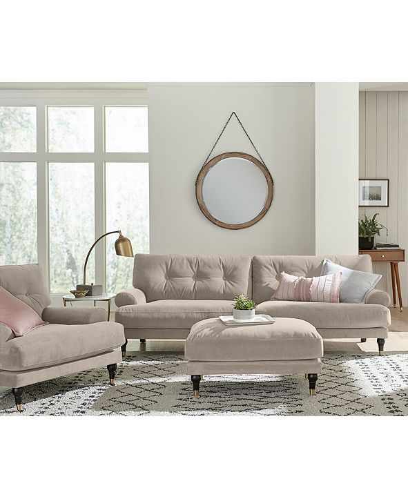 "Furniture LIMITED AVAILABILITY Brenata 92"" Fabric Sofa"