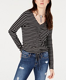 Juniors' Drawstring Printed Top, Created for Macy's