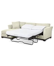 "Elliot II 107"" Fabric 2-Pc. Reversible Chaise Sleeper Sectional Sofa - Custom Colors, Created for Macy's"