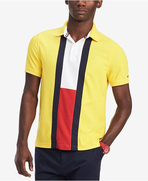 Tommy Hilfiger Men's Custom Fit Norris Colorblocked Polo, Created for Macy's