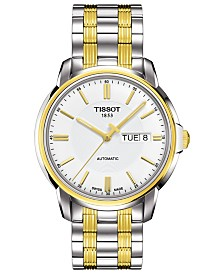 Tissot Men's Swiss Automatic T-Classic Automatics III Two-Tone PVD Stainless Steel Bracelet Watch 39mm