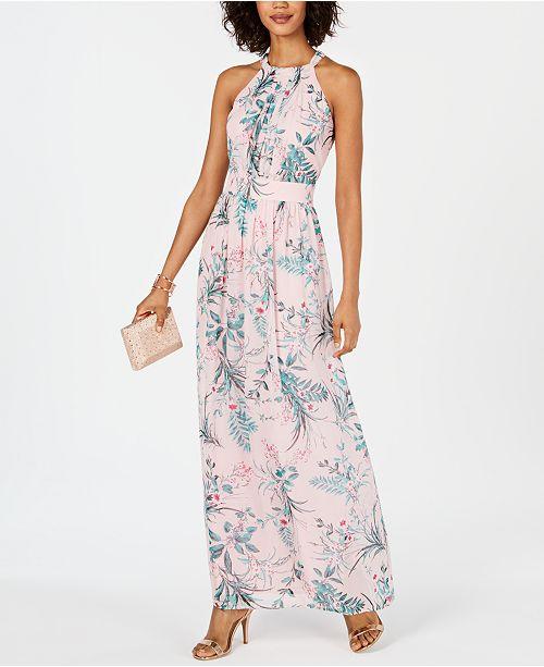 e5b024001f6 INC International Concepts I.N.C. Pleated Floral-Print Maxi Dress ...