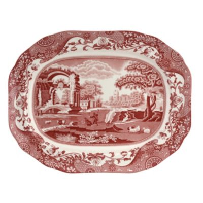 Cranberry Italian Oval Platter
