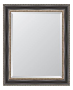 Black with Silver Emboss Framed Mirror - 28.25