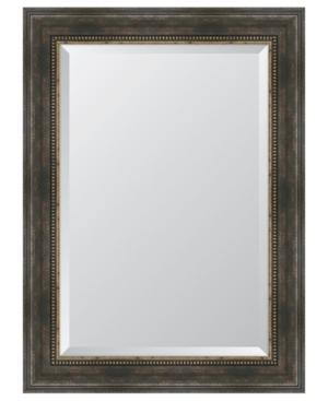 Black and Bronze Slope Framed Mirror - 32.5