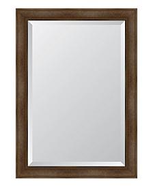 "Warm Walnut Framed Mirror - 30"" x 42"" x 2"""