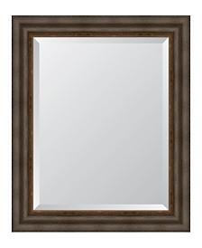 """Dark Bronze with Gold Lip Framed Mirror - 29.25"""" x 35.25"""" x 2"""""""