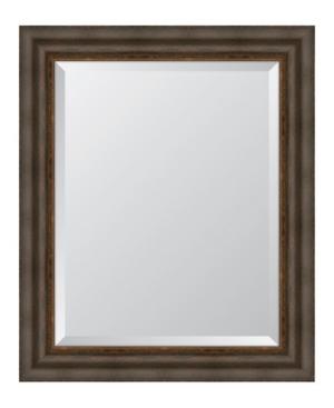 Dark Bronze with Gold Lip Framed Mirror - 29.25