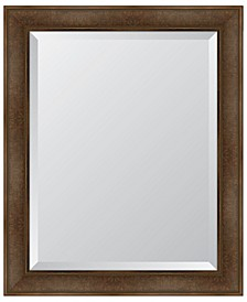 "Warm Walnut Framed Mirror - 28"" x 34"" x 2"""