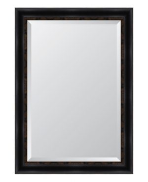 Black with Gold Emboss Framed Mirror - 30.25