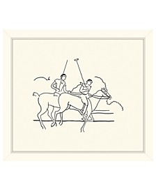 "Polo Riders Framed Giclee Wall Art - 29"" x 33"" x 2"""