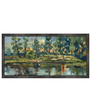 Moody Lake Shore Framed Giclee Wall Art - 41
