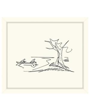 Canoe Sketch Framed Giclee Wall Art - 29