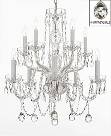 Empress Crystal 10-Light Chandelier with Faceted Crystal Balls