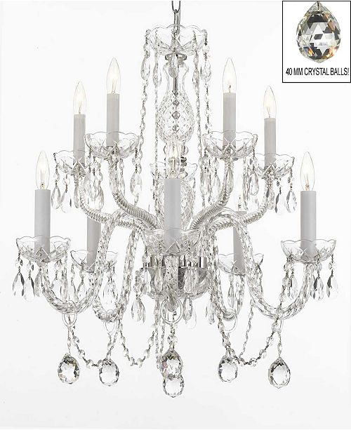 Harrison Lane Empress Crystal 10-Light Chandelier with Faceted Crystal Balls