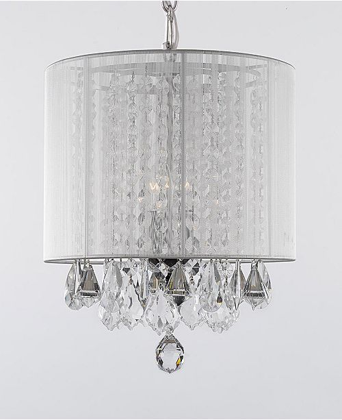 Harrison Lane Empress Crystal 3-Light Chandelier with Shade
