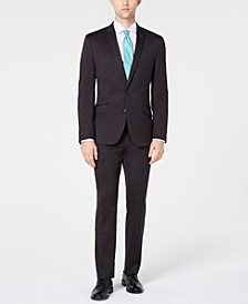 Men's Slim-Fit Performance Stretch Slate Gray Suit