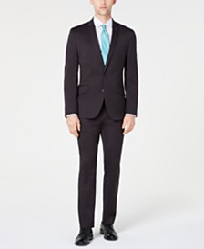Billy London Men's Slim-Fit Performance Stretch Slate Gray Suit