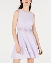 B Darlin Juniors  Double-Ruffle Crochet-Waist Fit   Flare Dress 93525cbe1