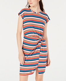 Ultra Flirt Juniors' Knot-Front T-Shirt Dress