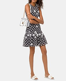 MICHAEL Michael Kors Floral Embroidered Mesh Dress
