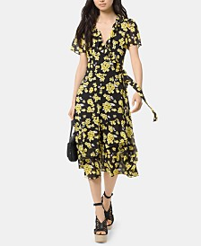 MICHAEL Michael Kors Floral-Print Wrap Dress