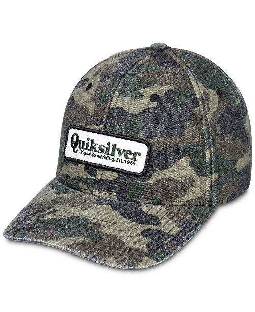 Quiksilver Men's Bullish Camouflage Logo Hat