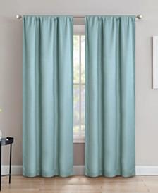 "Silk+Home Light Filtering Rod Pocket Curtain Panel Pair 40""x84"""