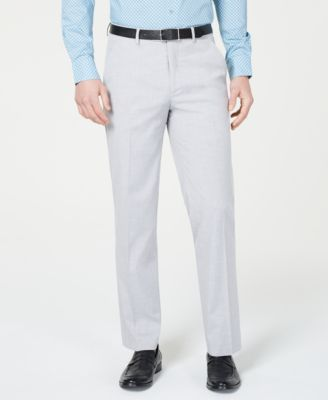 Men's Slim-Fit Performance Stretch Light Gray Suit Pants, Created for Macy's