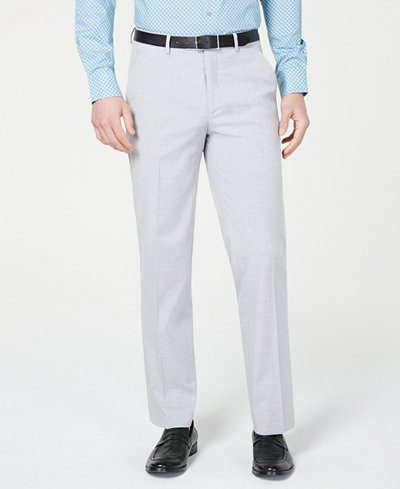 Alfani Red Men's Slim-Fit Performance Stretch Light Gray Suit Pants, Created for Macy's