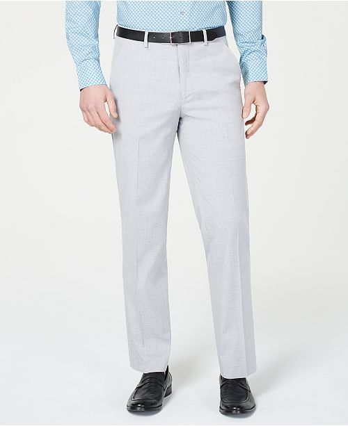 Alfani Men's Slim-Fit Performance Stretch Light Gray Suit Pants, Created for Macy's