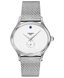 Tissot Women's Swiss Bella Ora Stainless Steel Mesh Bracelet Watch 28mm