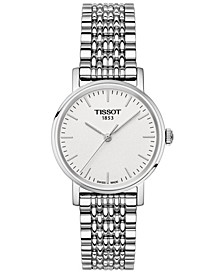 Women's Swiss T-Classic Everytime Stainless Steel Bracelet Watch 30mm