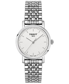 Tissot Women's Swiss T-Classic Everytime Stainless Steel Bracelet Watch 30mm