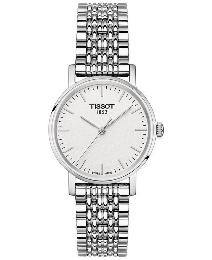 Tissot - Women's Swiss T-Classic Everytime Stainless Steel Bracelet Watch 30mm